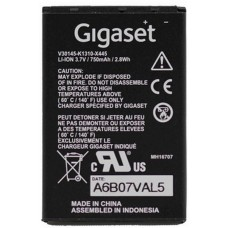 Аккумулятор gigaset sl400h battery pack 750mah for dect