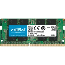 Crucial by micron  ddr4   8gb 2666mhz sodimm  (pc4-21300) cl19 1.2v (retail) (analog ct8g4sfs8266)