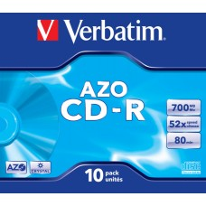Диск cd-r verbatim 700mb 52x jewel case (10шт) (43327)