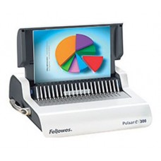 Переплетчик fellowes pulsar e (fs-56207) a4/перф.20л.сшив/макс.300л./пластик.пруж. (6-38мм)/электр.