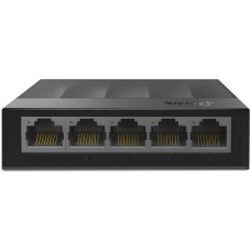 5 ports giga unmanaged switch, 5 10/100/1000mbps rj-45 ports, plastic shell, desktop and wall mountable