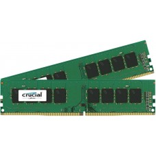 Crucial  16gb kit (8gbx2) ddr4 2400 mt/s (pc4-19200) cl17 sr x8 unbuffered dimm 288pin