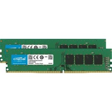 Crucial 16gb kit (8gbx2) ddr4 3200 mt/s (pc4-25600) cl22 sr x8 unbuffered dimm 288pin