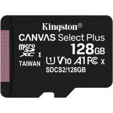Флеш карта microsd 128gb kingston microsdxc class 10 uhs-i u1 canvas select plus 100mb/s