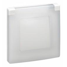 Etika рамка с защитной крышкой ip44, белый