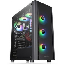 Thermaltake case v250 tg argb/black/win/spcc/tempered glass*1/120mm addressable rgb fans*3 + 120mm standard fan*1/mb sync