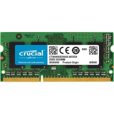 Crucial sodimm 4gb ddr3 1600 mt/s (pc3-12800) cl11  204pin 1.35v/1.5v single ranked
