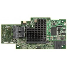 Intel integrated raid module rms3cc040, with dual core lsi3108 roc, 12 gb/s, 4 internal port sas 3.0 mezzanine card, raid levels 0,1,5,6,10.50.60, pcie x8 gen3, optional maintenance free backup unit (axxrmfbu5). no cables