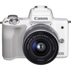 "Фотоаппарат canon eos m50 белый 24.2mpix 3"" 4k wifi 15-45 is stm lp-e12"