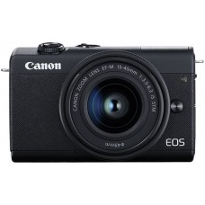 "Фотоаппарат canon eos m200 черный 24.1mpix 3"" 4k wifi 15-45 is stm lp-e12 (с объективом)"