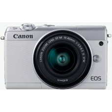 "Фотоаппарат canon eos m100 серебристый 24.2mpix 3"" 1080p wifi 15-45 is stm lp-e12 (с объективом)"