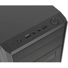 Корпус accord a-08b черный без бп matx 2xusb2.0 audio