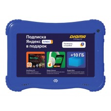 "Планшет digma optima kids 7 rk3126c (1.2) 4c/ram1gb/rom16gb 7"" ips 1024x600/android 8.1/голубой/2mpix/0.3mpix/bt/wifi/touch/microsd 128gb/minusb/2500mah"