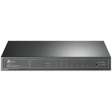 8-port gigabit smart switch with 4 poe+ ports, 4 gigabit ports with poe+ support, 802.3 at/af standard, poe budget — 62 w, steel case for desktop installation, integration with the omada pc controller with 802.1 q vlan function
