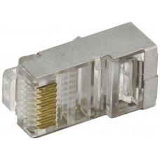 Коннектор rj-45 silver (упак.:20шт)