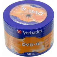 Диск dvd-r verbatim 4.7gb 16x cake box (50шт) (43731)