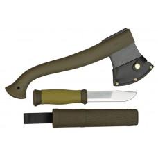 Набор нож/топор mora outdoor kit mg (1-2001) хаки