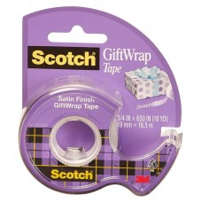 Клейкая лента 3m scotch satin 7100093925 шир.19мм дл.7.5м полуматовая на мини-диспенсере