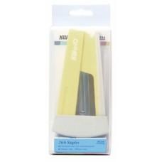Комплект степлер+скобы kw-trio 055x66-yel swing standing 24/6 26/6 (20листов) желтый 100скоб пластик блистер