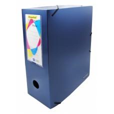 Папка архивная на резинке silwerhof perlen 311915-74 полипропилен 1мм корешок 100мм a4 синий металлик
