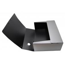 Папка архивная на резинке silwerhof perlen 311916-77 полипропилен 1мм корешок 120мм a4 серебристый металлик