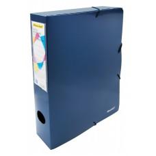 Папка архивная на резинке silwerhof perlen 311917-74 полипропилен 0.8мм корешок 55мм a4 синий металлик