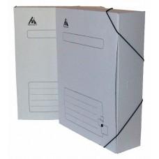 Папка архивная на резинке бюрократ kpa-75rwt микрогофрокартон корешок 75мм 250x325x75мм белый