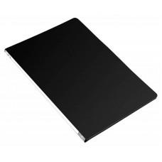 Папка метал.зажим бюрократ -pz05cblck a4 пластик 0.5мм торц.наклейка черный