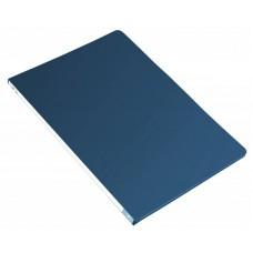 Папка метал.зажим бюрократ -pz05cblue a4 пластик 0.5мм торц.наклейка синий