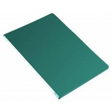 Папка метал.зажим бюрократ -pz05cgreen a4 пластик 0.5мм торц.наклейка зеленый