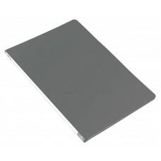 Папка метал.зажим бюрократ -pz05cgrey a4 пластик 0.5мм торц.наклейка серый