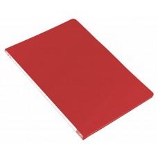 Папка метал.зажим бюрократ -pz05cred a4 пластик 0.5мм торц.наклейка красный