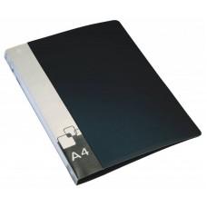 Папка метал.зажим бюрократ -pz07cblck a4 пластик 0.7мм внут.и торц.карм черный