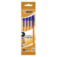 Набор шариковых ручек bic orange (8308521) 0.8мм корпус пластик оранжевый синие чернила пакет (4шт)