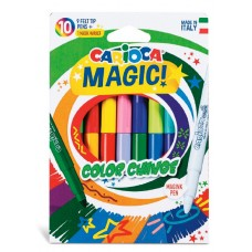 Фломастеры carioca magic 42737 9цв. +1волшеб.