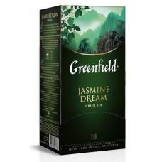 Чай greenfield jasmine dream зеленый жасмин 25пак. карт/уп. (0373-10)