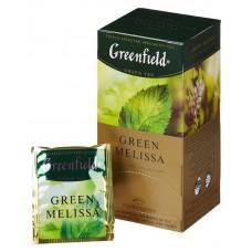 Чай greenfield green melissa зеленый мелисса 25пак. карт/уп. (0435-10)
