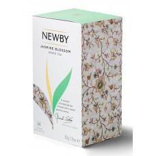 Чай newby jasmine blossom зеленый жасмин 25пак. карт/уп.