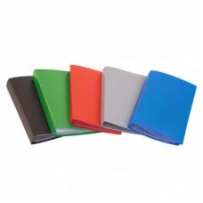 Визитница настольная бюрократ vz120k (120 карточек) пластик ассорти