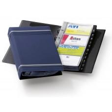 Визитница переносная durable visifix 2385-07 57х90мм (200 визиток) вклад.:25шт. пвх синий