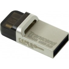 Transcend 16gb jetflash 880, silver plating, otg