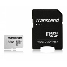 Micro securedigital 32gb transcend ts32gusd300s-a {microsdhc class 10 uhs-i, sd adapter}