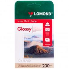 Бумага a6 (100*150) для стр. принтеров lomond, 230г/м2 (50л) гл.одн.