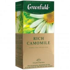 """Чай greenfield (гринфилд) """"rich camomile"""" (""""ромашковый""""), травяной, 25 пакетиков в конвертах по 1,5 г, 0432-10"""