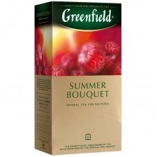 """Чай greenfield """"summer bouquet"""", травяной аром. малина,шиповн., 25 фольг. пакетиков по 1,5г"""