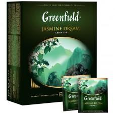 Чай greenfield jasmine dream зеленый жасмин 100пак. карт/уп. (0586-09)