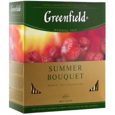 Чай greenfield summer bouquet фруктовый малина 100пак. карт/уп. (0878-09)