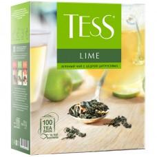 Чай tess lime зеленый цедра цитрусовых 100пак. карт/уп. (0920-09)