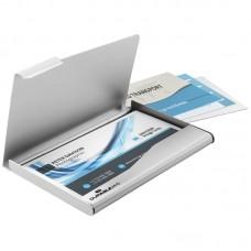 Визитница карманная durable 2415-23 55х90мм (15 визиток) алюминий серебристый