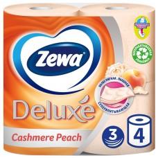 Бумага туалетная zewa персик бытовая deluxe 3-хслойная 20.7м персиковый (уп.:4рул) (3276)